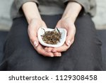 chahe with black tea for... | Shutterstock . vector #1129308458