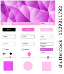 light pink vector ui kit in...