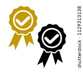 check mark. award. stamp icon.... | Shutterstock .eps vector #1129313138