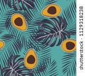 tropical seamless pattern with... | Shutterstock .eps vector #1129318238