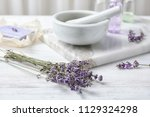 composition with lavender... | Shutterstock . vector #1129324298