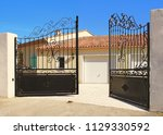automatic opening house... | Shutterstock . vector #1129330592