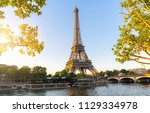 eiffel tower  paris france   Shutterstock . vector #1129334978