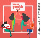 happy youth day celebration... | Shutterstock .eps vector #1129339808