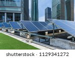 solar and modern city skyline | Shutterstock . vector #1129341272