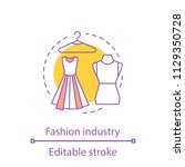 fashion industry concept icon.... | Shutterstock .eps vector #1129350728