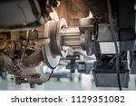 brake disc grinding machine  ... | Shutterstock . vector #1129351082
