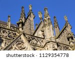 details of the sculptures on... | Shutterstock . vector #1129354778