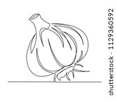continuous single drawn one...   Shutterstock .eps vector #1129360592