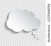 white blank paper speech bubble ... | Shutterstock .eps vector #1129368356