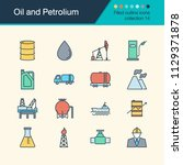 oil and petrolium icons. filled ... | Shutterstock .eps vector #1129371878