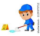 vector illustration of man... | Shutterstock .eps vector #1129375712
