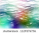 colorful waves brush strokes. | Shutterstock . vector #1129376756