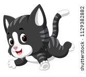 vector illustration of cute cat ... | Shutterstock .eps vector #1129382882