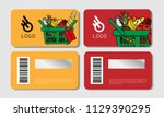 scratch cards templates  for... | Shutterstock .eps vector #1129390295