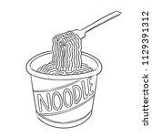 vector of noodle | Shutterstock .eps vector #1129391312