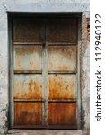 Old Metal Door With Rust In Asia