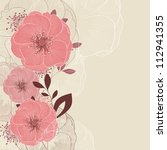 hand drawing floral background... | Shutterstock .eps vector #112941355