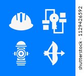 set of 4 security filled icons... | Shutterstock .eps vector #1129426592