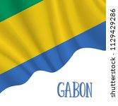 17 august  gabon independence... | Shutterstock .eps vector #1129429286