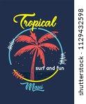 tropical maui  at shirt design | Shutterstock .eps vector #1129432598