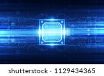 abstract technology chip... | Shutterstock .eps vector #1129434365