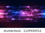 vector abstract futuristic high ... | Shutterstock .eps vector #1129434512