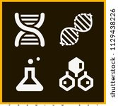 set of 4 science filled icons...   Shutterstock .eps vector #1129438226