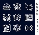 animals icon set   outline... | Shutterstock .eps vector #1129439255