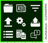 set of 9 interface filled icons ... | Shutterstock .eps vector #1129440995