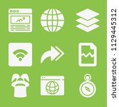 interface icon set   filled... | Shutterstock .eps vector #1129445312