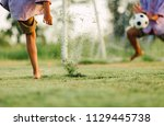 an action picture of a group of ... | Shutterstock . vector #1129445738