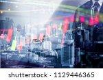 financial data in term of a... | Shutterstock . vector #1129446365