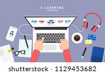 flat design concept people... | Shutterstock .eps vector #1129453682