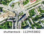 aerial city view with...   Shutterstock . vector #1129453802
