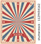 grunge circus vintage ... | Shutterstock .eps vector #1129454162