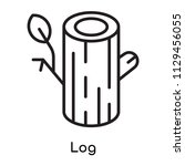 log icon vector isolated on... | Shutterstock .eps vector #1129456055