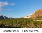 tundra and mountains of... | Shutterstock . vector #1129459496