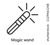 magic wand icon vector isolated ... | Shutterstock .eps vector #1129461248