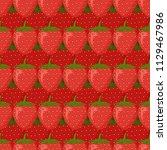 seamless pattern and ripe red... | Shutterstock .eps vector #1129467986