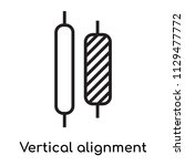 vertical alignment icon vector...