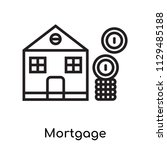 mortgage icon vector isolated... | Shutterstock .eps vector #1129485188