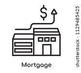 mortgage icon vector isolated... | Shutterstock .eps vector #1129485425