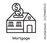 mortgage icon vector isolated... | Shutterstock .eps vector #1129485515