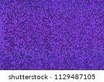 shimmering dots on purple... | Shutterstock .eps vector #1129487105