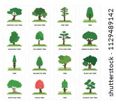 set of 16 icons such as scarlet ... | Shutterstock .eps vector #1129489142