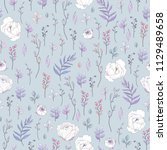seamless rustic pattern of... | Shutterstock .eps vector #1129489658