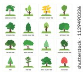 set of 16 icons such as maple...