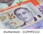 singapore 2 dollars note closeup | Shutterstock . vector #1129492112