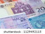 macau 20 patacas note closeup | Shutterstock . vector #1129492115